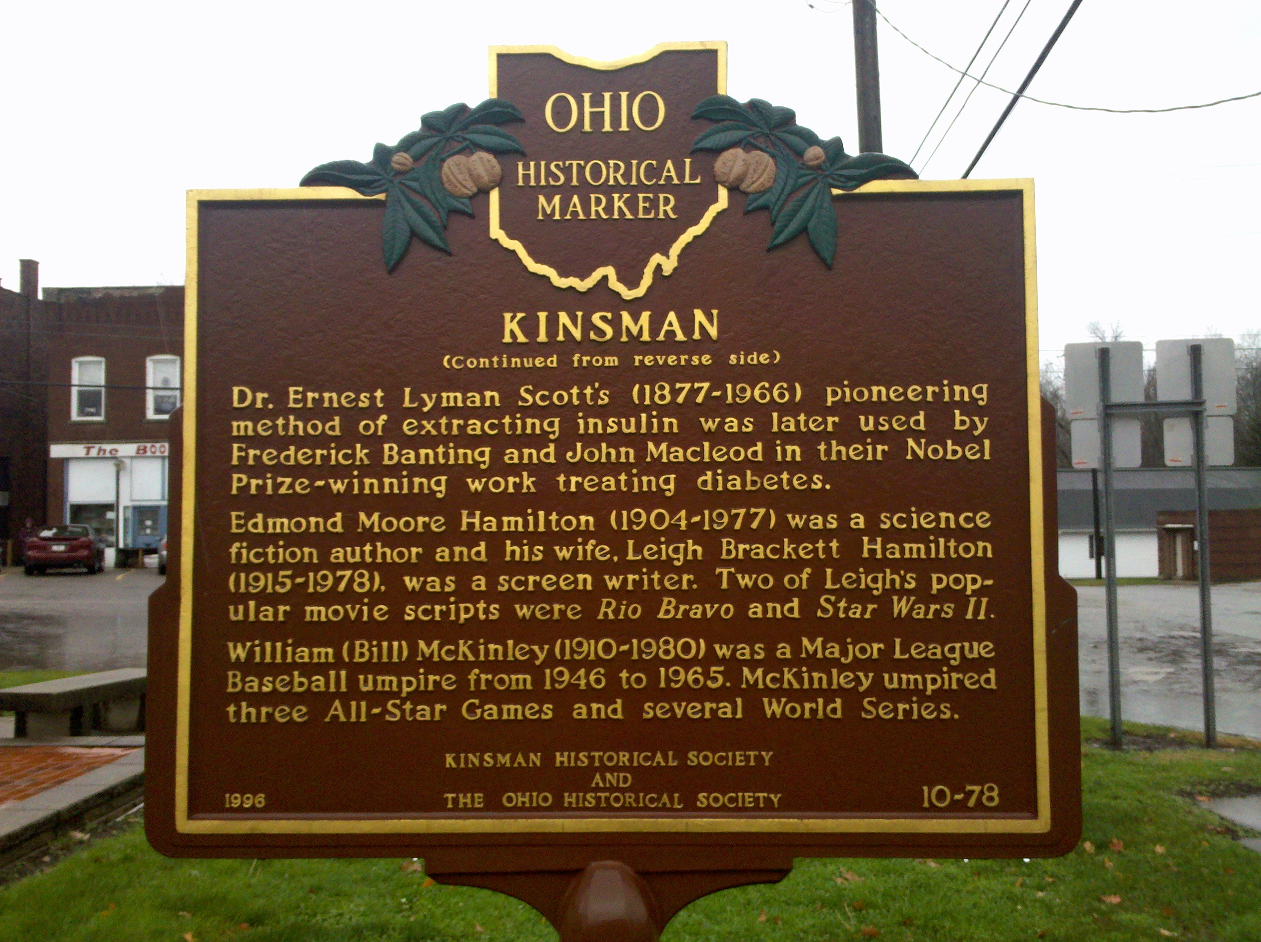 Ohio Historical Marker 10-78