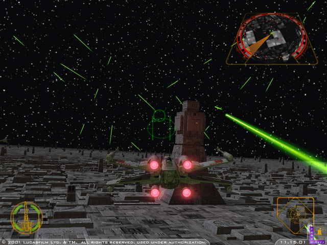 Death Star battle in Star Wars: Rogue Squadron - Rogue Leader