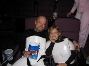 My daughter Allie and me trooped as Stormtroopers at Episode III. Best troop ever.