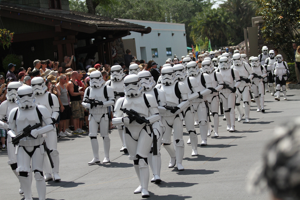 501st Legion marches from the gate. \ Image: Gordon Tarpley
