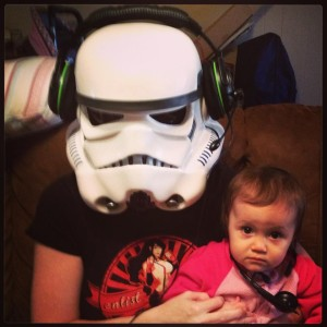 Stormtrooper and daughter -- Carrie Bland.