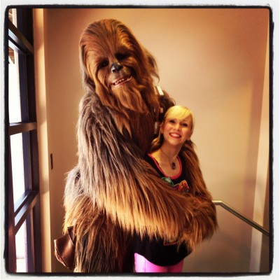 I'll close the post with some of my favorite photos of me and my best friend Chewbacca! I love our awkward Prom photo!