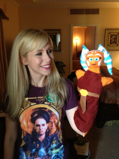 I am so grateful for all of gifts I received from fans. I loved this custom made Ahsoka puppet!