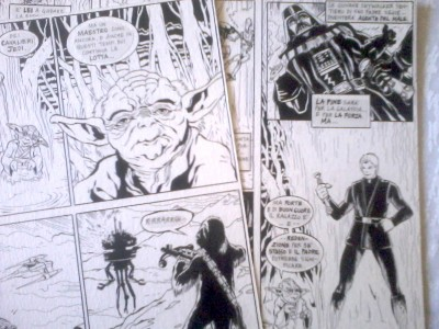 The original illustrations from the Hasbro Italy comic book.