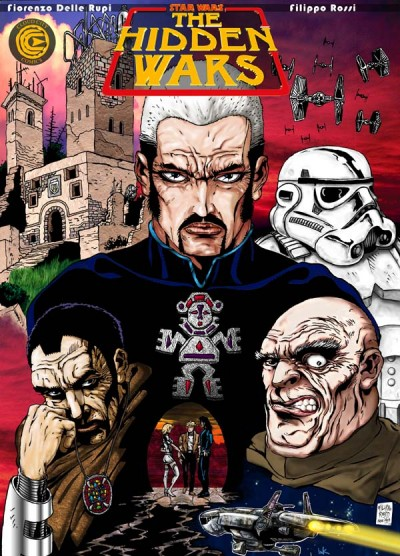 Rossi's cover artwork for the first issue of <em>Star Wars: The Hidden Wars</em> (1997).