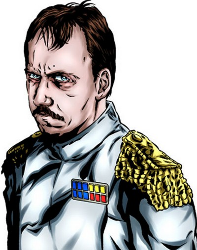 Grand Admiral Miltin Takel, a human with a taste for varied sensuality, including close encounters of the interspecies kind.