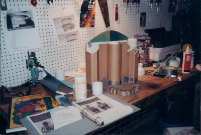 The garage became Fett Project HQ.