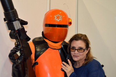 Magnus Müller, the founder of Mission Orange, with Carrie Fisher.