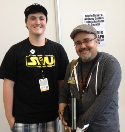 Dominic Jones with Pablo Hidalgo.