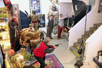 Once all the items were assembled, there were dozens of different kinds of set-ups that were shot.