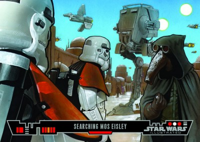 Searching Mos Eisley - Topps Star Wars Illustrated Trading Card