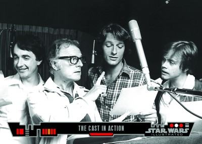 The Cast in Action - Topps Star Wars Illustrated Trading Card