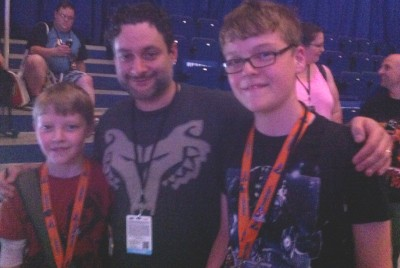 """Fans with Dave Filoni at Celebration Europe."""