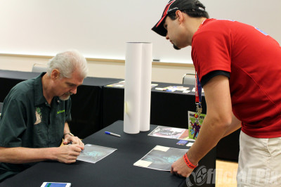 Tom Kane, voice of Yoda on Star Wars: The Clone Wars, signs at Dallas Comic Con