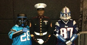 Pats and Panthers Trooper with a real trooper