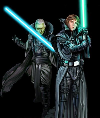 Upon Thrawn's defeat, a reborn Darth Sidious reclaimed rule of the Galactic Empire with his new apprentice, Luke Skywalker