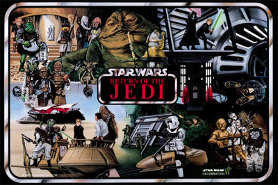 Vintage Return of the Jedi action figure case art magnet