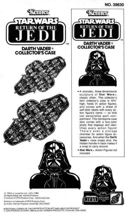 Darth Vader Collector's Case instructions