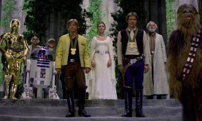 The medal ceremony from A New Hope
