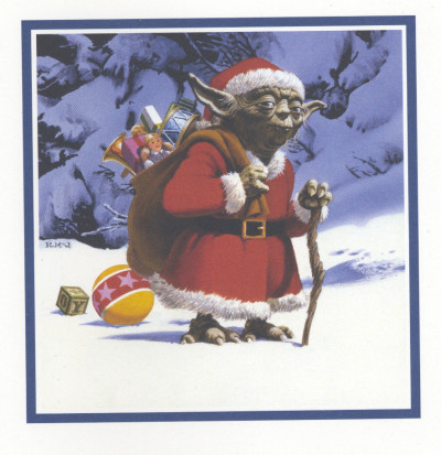 Yoda holiday card by Ralph McQuarrie