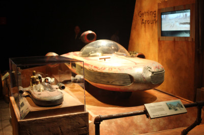 Landspeeder model and full scale prop