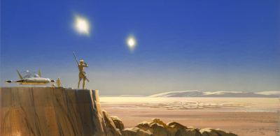 Mos Eisley concept art by Ralph McQuarrie