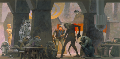 Cantina concept art by Ralph McQuarrie