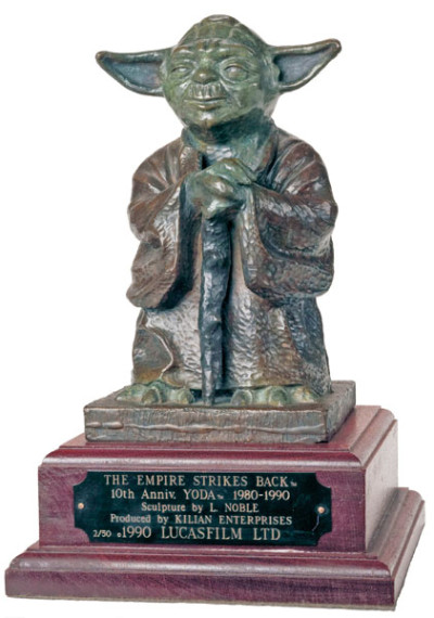 Noble's first sculpture became this limited-edition bronze Yoda (Photo by Anne Neumann)