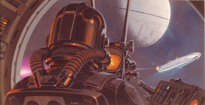 TIE fighter pilot and cockpit concept art by Ralph McQuarrie