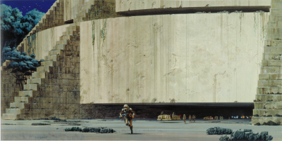 Yavin 4 temple concept art by Ralph McQuarrie