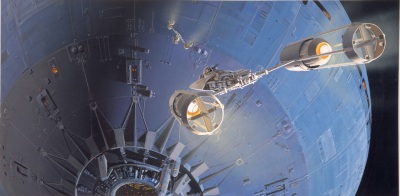Death Star attack concept art by Ralph McQuarrie