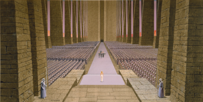 Throne Room concept art by Ralph McQuarrie