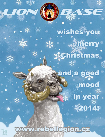 Tauntaun holiday card
