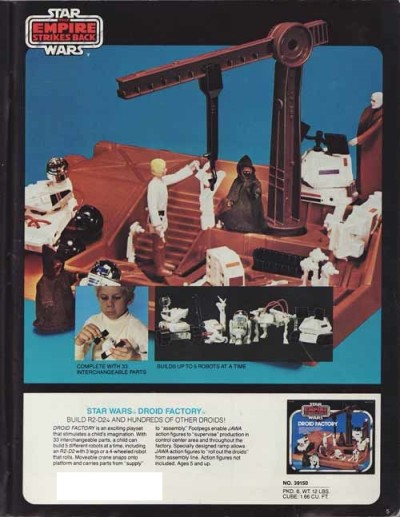 Kenner's Star Wars Droid Factory playset
