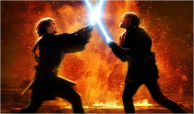 Anakin Skywalker falls from grace in Revenge of the Sith