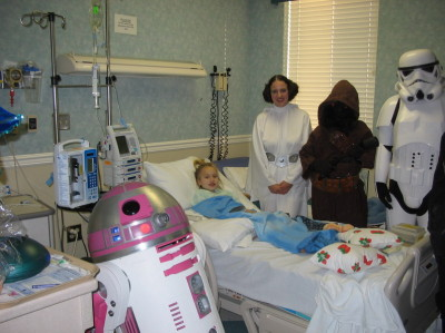 R2-KT loves to visit younglings in need of a power boost