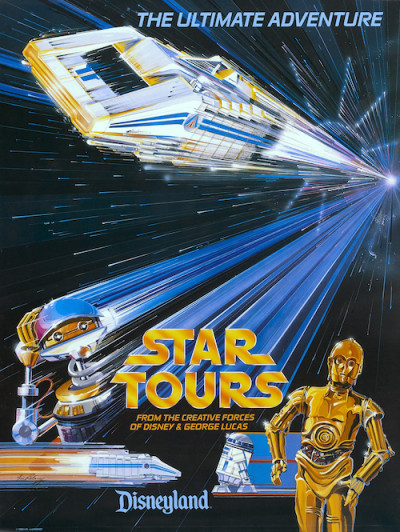 Star Tours poster 1986