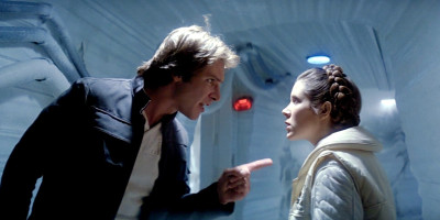 Han and Leia Hoth fight in The Empire Strikes Back