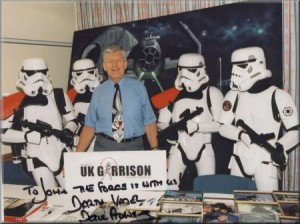 The 501st UK Garrison Stormtroopers with David Prowse (Darth Vader) in 2000