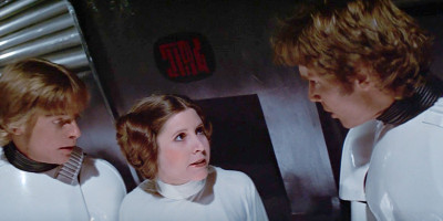 Han and Leia Death Star rescue in A New Hope