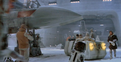 The Rebel Troop Carrier in a scene from The Empire Strikes Back