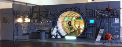 The Millennium Falcon set from the Belgian 501st Garrison, as it was set up at Celebration Europe in Germany last year