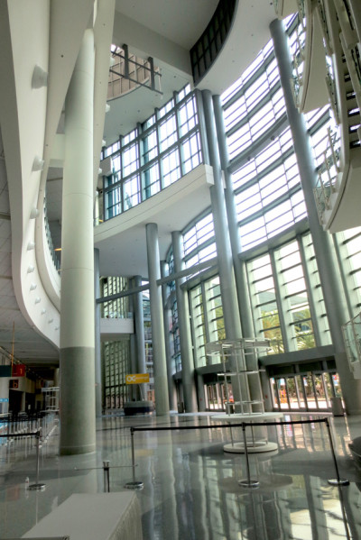 Interior entrance of the Anaheim Convention Center, site of Star Wars Celebration 2015