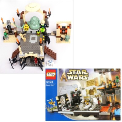 LEGO Jabba's Palace and LEGO Cloud City
