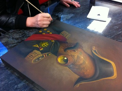 Steven Daily paints Magnitude, a Star Wars painting with Admiral Ackbar