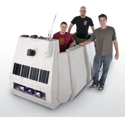 Cole Horton, Chris Reiff, and Daren Murrer with their Rebel Troop Carrier (Photo by Christian Dohn)