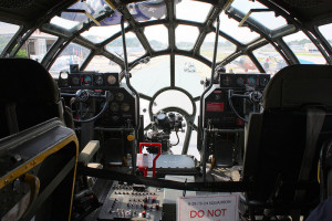 B-29 cockpit interior, a design influence for the cockpit of the Millennium Falcon