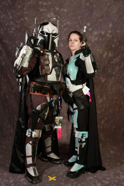 """Our first """"armored"""" event together.  DragonCon 2008"""