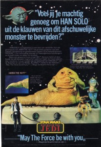 Dutch / Belgian ad for Jabba the Hutt playset by Kenner