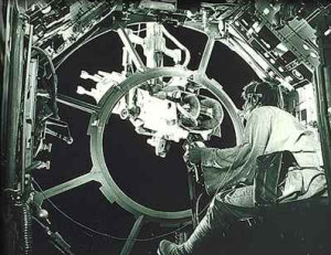 Luke Skywalker in the Millennium Falcon gun port